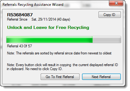 Referrals Recycling Assistance Wizard 1