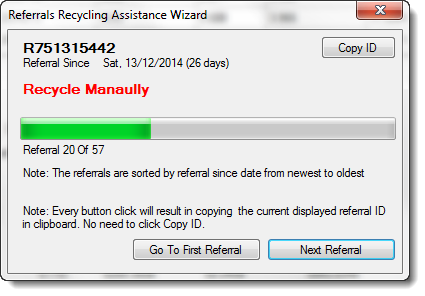 Referrals Recycling Assistance Wizard 2